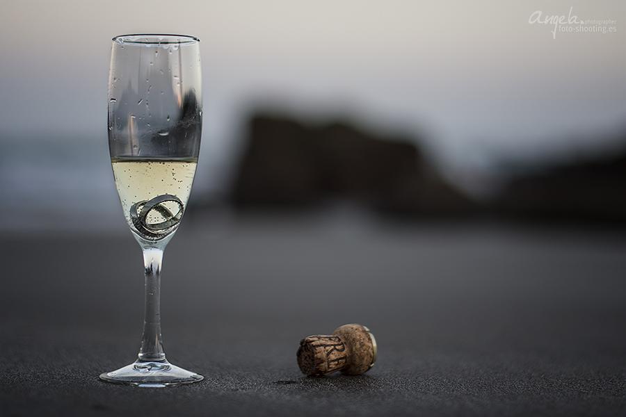 Sektglas mit Eheringen