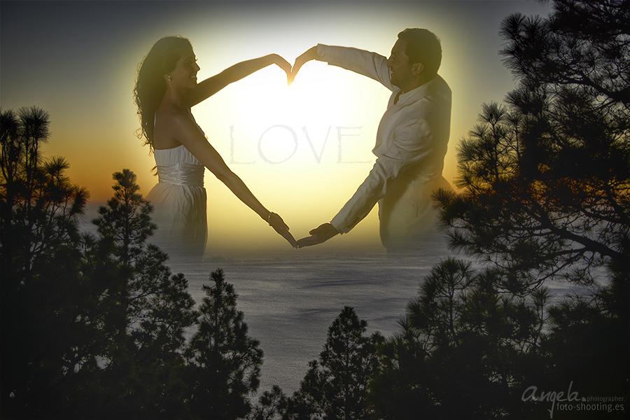 Love, Fotobearbeitung eines Hochzeitsshootings