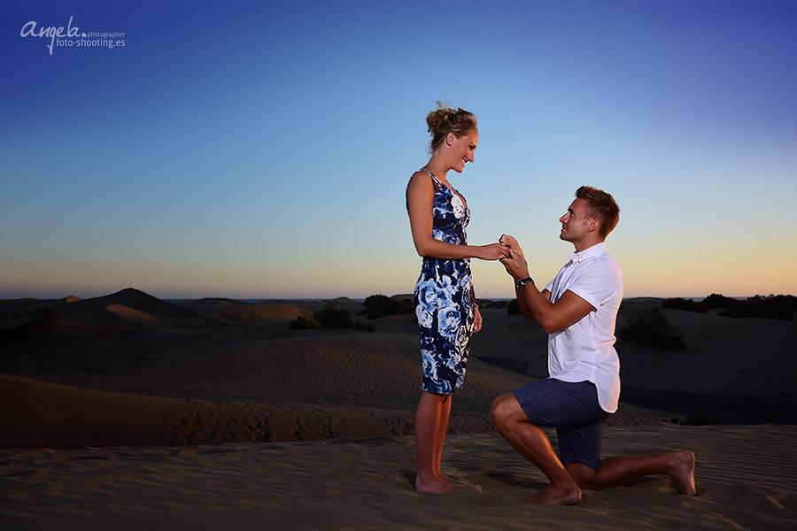 Heiratsantrag in den Dünen