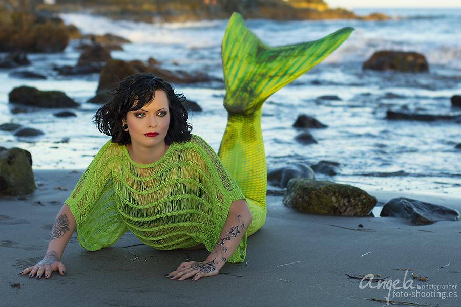 Meerjungfrau am Strand
